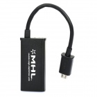 Micro USB to HDMI HDTV Adapter for Samsung i9108 - Black (15cm)
