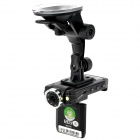 EGPS MX200 300KP CMOS Wide Angle Car DVR Camcorder w/ TF / Mini USB - Black (2.0