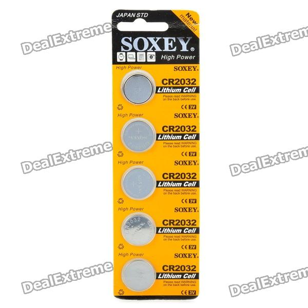 3V CR2032 Lithium Cell Button Batteries (5-Piece Pack) goop cr2450 3v lithium cell button batteries 5 x 10pcs