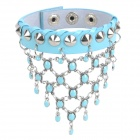 Fashion Young Punk Style Rivet Studded Bracelet - Powder Blue