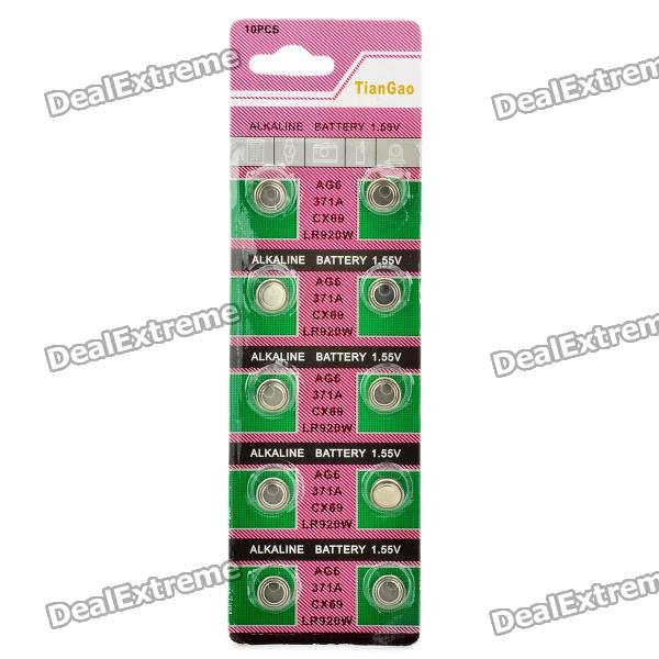 все цены на AG6 / LR920 1.55V Alkaline Cell Button Batteries (10-Piece Pack) онлайн