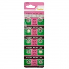 AG6 / LR920 1.55V Alkaline Cell Button Batteries (10-Piece Pack)