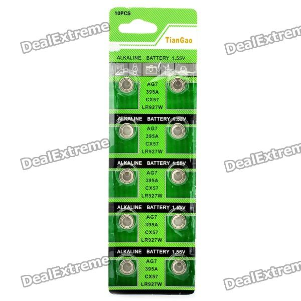 все цены на AG7 / LR927 1.55V Alkaline Cell Button Batteries (10-Piece Pack) онлайн