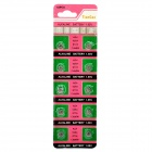 AG4 1.55V Alkaline Cell Button Batteries (10-Piece Pack)