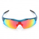 Sports Cycling PP Resin Eye Protection Glasses Goggle - Blue (Size-L)