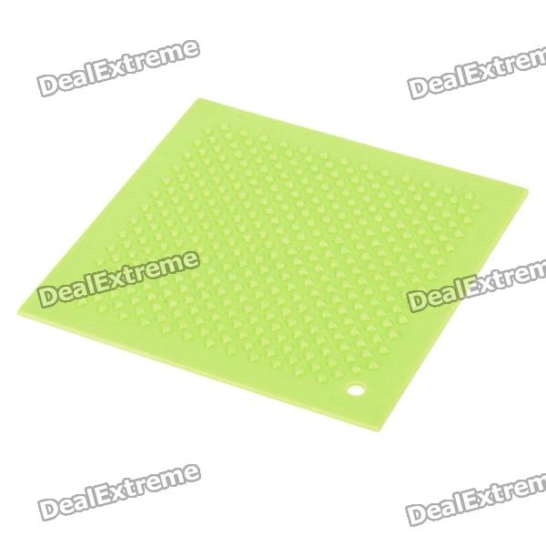 Square Silicone Cup / Bowl Heat Insulation Pad - Green