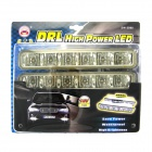 6W 2x6 LED 110LM 7500K High Power White Light Car Daytime Running / Decorative Lamps (12V)
