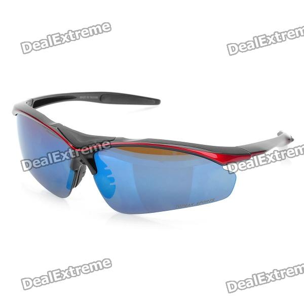 Stylish Outdoor Riding PC Lens Eye Protection Glasses Goggle (Size-L) stylish outdoor riding pc lens eye protection glasses goggle size l