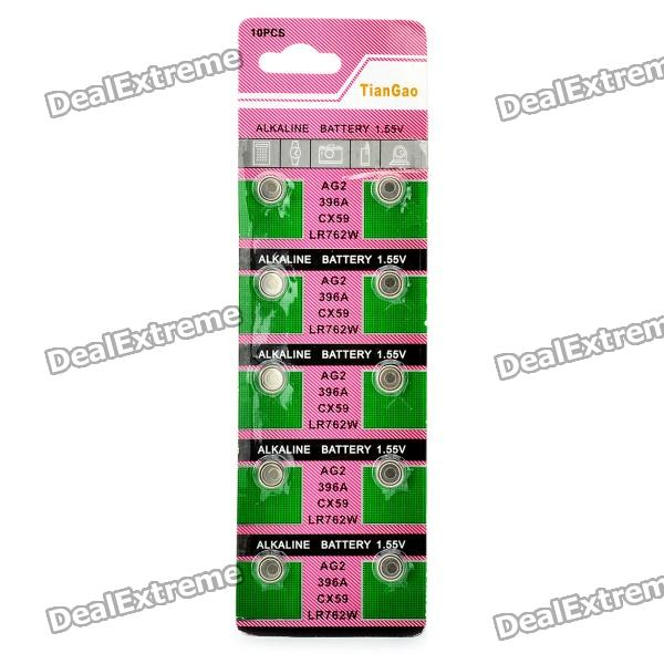 все цены на AG2 / LR762 1.55V Alkaline Cell Button Batteries (10-Piece Pack) онлайн