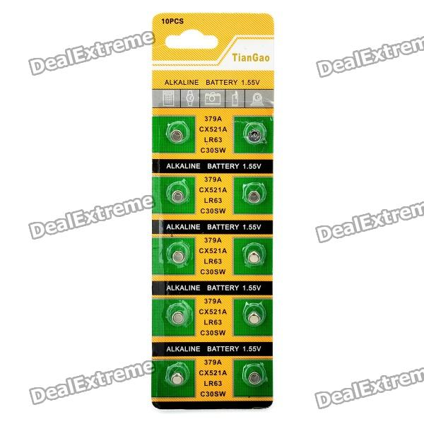 все цены на AG0 / LR63 1.55V Alkaline Cell Button Batteries (10-Piece Pack) онлайн