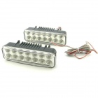2W 2x14 LED 7000~7500K White Light Daytime Running / Decorative Lamps (12V / Pair)