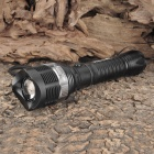 PRAIRIE FIRE 157 Cree XR-E Q5 160LM 3-Mode Cool White Light Zoom Flashlight - Black (1 x 18650)