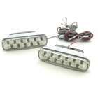 2W 2x11 LED 460~470K White Light Daytime Running / Decorative Lamp (12V / Pair)