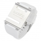 Aluminum Alloy Back Cover + Silicone Wrist Watch Band Strap for iPod Nano 6 - White