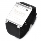 Aluminum Alloy Back Cover + Silicone Wrist Watch Band Strap for iPod Nano 6 - Black
