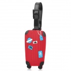 Cute Suitcase Shape Secure Travel Suitcase ID Luggage Tag - Red  