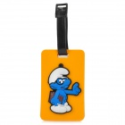 Cute The Smurfs Secure Travel Suitcase ID Luggage Tag - Yellow