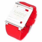 Aluminum Alloy Back Cover + Silicone Wrist Watch Band Strap for iPod Nano 6 - Red