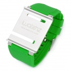 Aluminum Alloy Back Cover + Silicone Wrist Watch Band Strap for iPod Nano 6 - Green