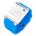 Aluminum Alloy Back Cover + Silicone Wrist Watch Band Strap for iPod Nano 6 - Blue