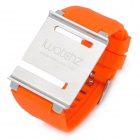 Aluminum Alloy Back Cover + Silicone Wrist Watch Band Strap for iPod Nano 6 - Orange
