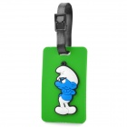 Cute The Smurfs Secure Travel Suitcase ID Luggage Tag - Green + Blue