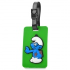Cute The Smurfs Secure Travel Suitcase ID Luggage Tag - Green