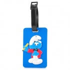 Cute The Smurfs Secure Travel Suitcase ID Luggage Tag - Blue