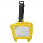 Secure Travel Suitcase ID Luggage Tag - Yellow