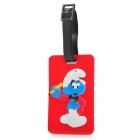 Cute The Smurfs Secure Travel Suitcase ID Luggage Tag - Red