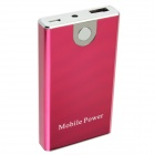 Portable 3300mAh Mobile External Power Phone Battery Pack W/ Adapters - Red