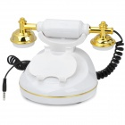 Retro Classic Wired Desk Telephone Handset For iPhone 3G / 3GS / 4 / 4S - White