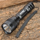 RAYSOON RS-360 Cree XR-E Q5 180LM 5-Mode Cool White Flashlight w/ Head Strap - Black (1 x 18650)