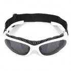 Sports Cycling Eye Protection Glasses Goggle - White