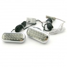 2.4W 2x12 LED 460~470K Blue Light Daytime Running / Warning Lamps for Car (12V / Pair)