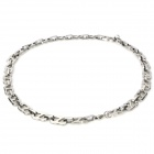 Trendy Stainless Steel Non-Allergy Necklace	- Silver
