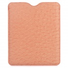 Artificial Ostrich Pattern Protective PU Leather Carrying Case for Ipad 2 / The New Ipad - Deep Pink