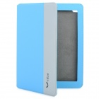 Nice A-016 Protective PU leather Case for iPad2 / The New iPad - Blue + Grey