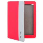 Nice A-015 Protective PU Leather Case for Ipad 2 / The New Ipad - Red + Grey