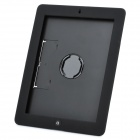 Swivel Handheld Protective Plastic Back Case for iPad 2 / The New iPad - Black