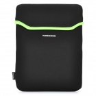Soft Neoprene Waterproof Bag Case for   Ipad 2 / The New Ipad - Black + Green