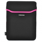 Soft Neoprene Waterproof Bag Case for Apple iPad 2 / The New iPad - Black + Deep Pink