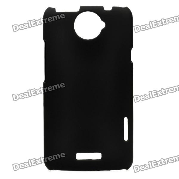 Protective Matte Frosted Back Case for HTC One X S720e - Black matte protective pe back case for htc one x s720e deep pink