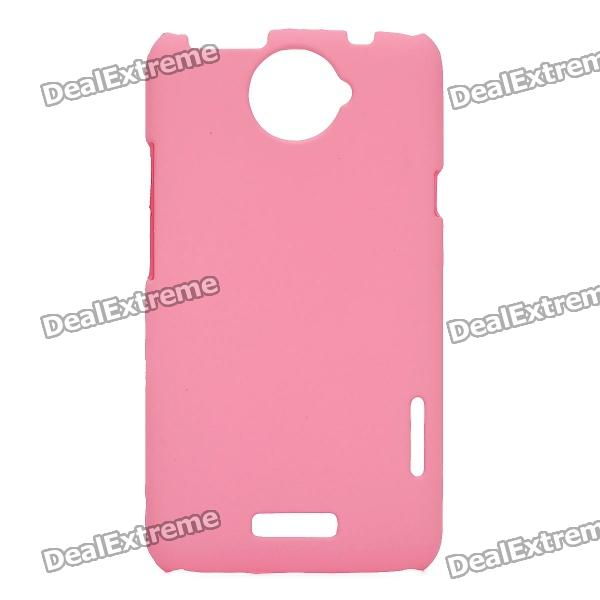 Protective Matte Frosted PE Back Case for HTC One X S720e - Pink matte protective pe back case for htc one x s720e deep pink