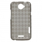 Protective PVC Back Case for HTC One X - Grey