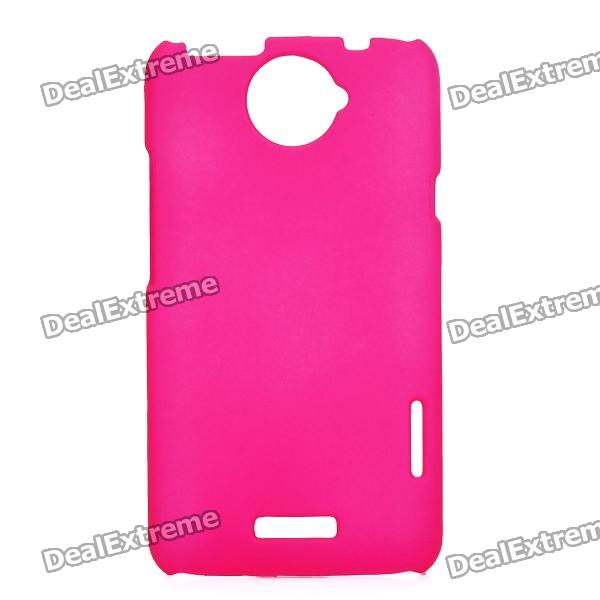 Matte Protective PE Back Case for HTC One X / S720e - Deep Pink matte protective pe back case for htc one x s720e deep pink