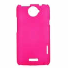 Matte Protective PE Back Case for HTC One X / S720e - Deep Pink