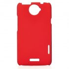 Matte Protective PE Back Case for HTC One X / S720e - Red