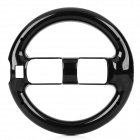 Universal Plastic Wheel Controller for Wii - Black
