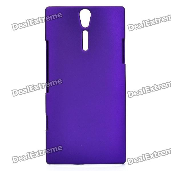 Protective PE Back Case for Sony Xperia S / LT26i - Purple cell phone brand new repair parts for sony xperia s lt26i backlight back light flex refurbishment replacement